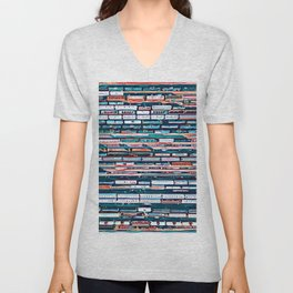Cool patterns ~ Train Jam Unisex V-Neck