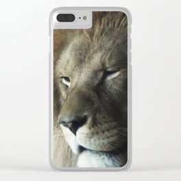 A Thoughtful King Clear iPhone Case