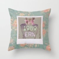 1989 Throw Pillows featuring The 1989 Era by Lucia C