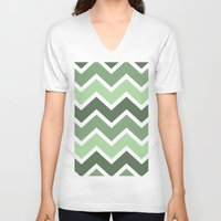 grass V-neck T-shirts featuring Grass by whiteknights