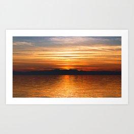 Landscape - Thessaloniki Sunset #2 Art Print