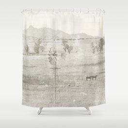 """Vintage Valley"" by Murray Bolesta! Shower Curtain"