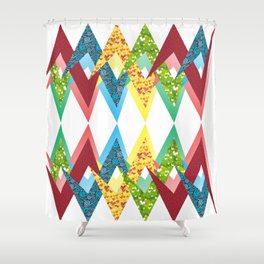 Fragments and patchwork Shower Curtain