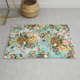 Floral and Lobster Rug