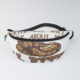 King Python Snake   Pet Gift Idea Fanny Pack