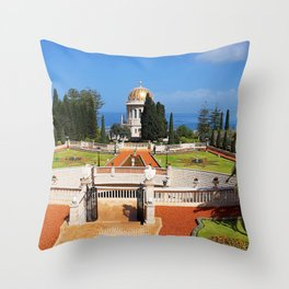 Bahai Gardens Throw Pillow