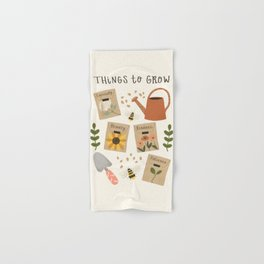 Things to Grow - Garden Seeds Hand & Bath Towel