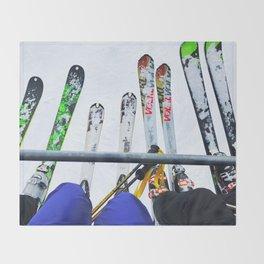 Ski All Day Throw Blanket