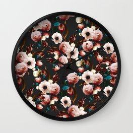 FLORAL PATTERN XII Wall Clock