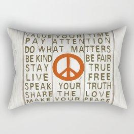 WHAT MATTERS Rectangular Pillow