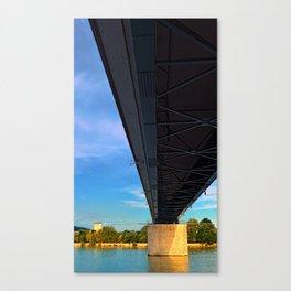 Bridge across the river Danube III | architectural photography Canvas Print