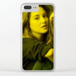 Sheilin Woodley - Celebrity (Florescent Color Technique) Clear iPhone Case
