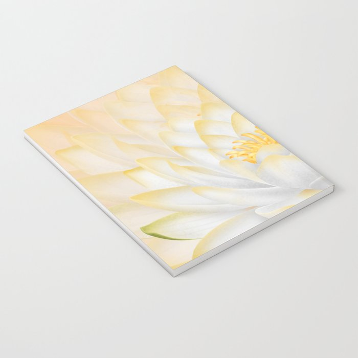 White Peach Lotus Notebook