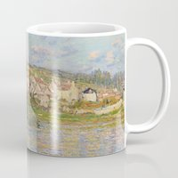 monet Mugs featuring Vetheuil by Claude Monet by Palazzo Art Gallery