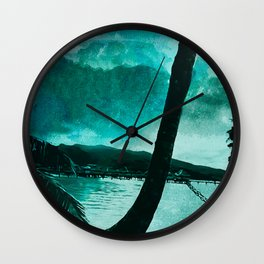 Tempest Island (Colder Version) Wall Clock