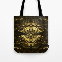 All Seeing eye golden texture on aged wood Tote Bag