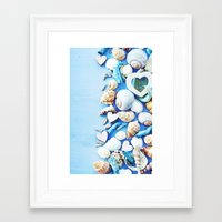 shells Framed Art Prints featuring SHELLS by Ylenia Pizzetti