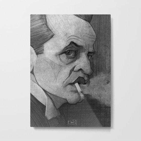 Klaus Kinski illustration portrait Metal Print