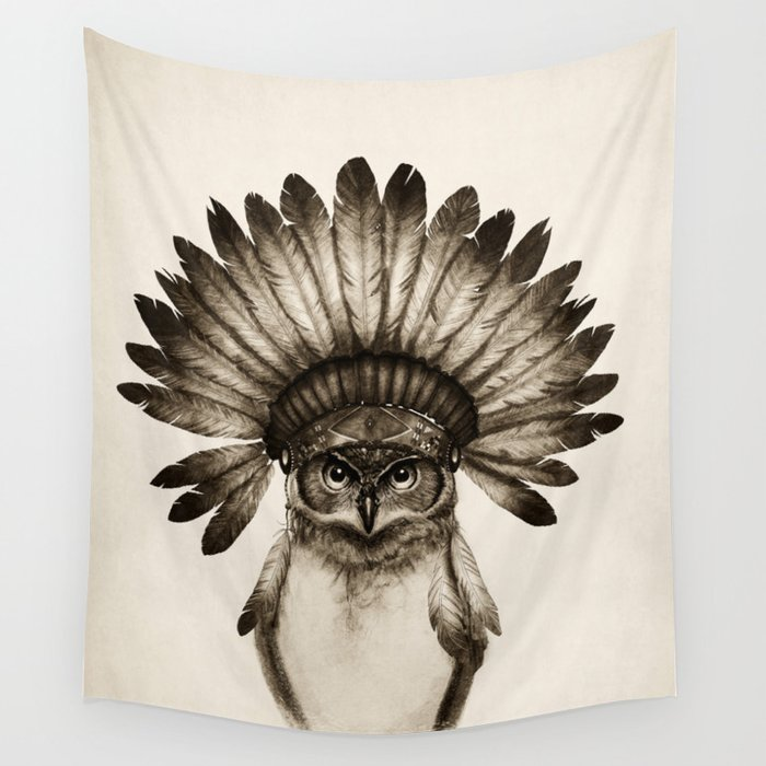 Owl Cheif Wall Tapestry