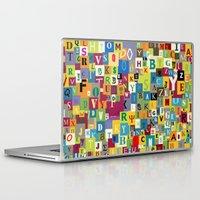 alphabet Laptop & iPad Skins featuring Alphabet by Rceeh