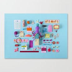 Miniature Collage: Crafting Canvas Print