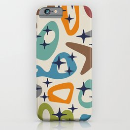 Retro Mid Century Modern Abstract Composition 926 iPhone Case