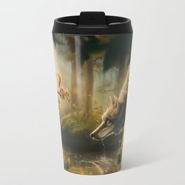 Want a Nut? (Wolf and Squirrel) Travel Mug