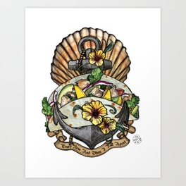 Taco Bout Love Art Print