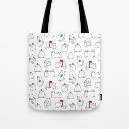 Fat Christmas cats Tote Bag