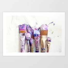 Six Dirty Paintbrushes (Photo) Art Print