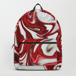 Red abstract liquid shapes Backpack