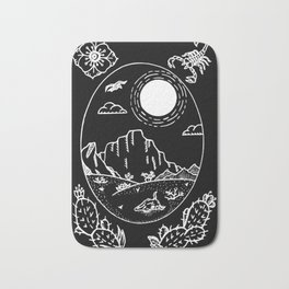 Desert Scene Illustration Invert Bath Mat