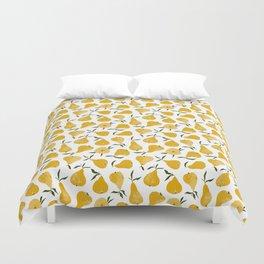 Yellow pear Duvet Cover