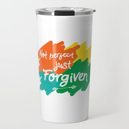 Makes a great gift for everyone feels good to wear this Forgiven tee design you are blessed & gifted Travel Mug