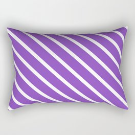 Lavender Purple Diagonal Stripes Rectangular Pillow