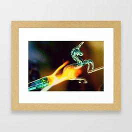 Burning Glass Framed Art Print