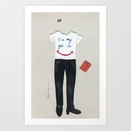 Customer Service Outfit Art Print