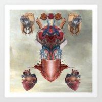 kaiju Art Prints featuring Kaiju by DIVIDUS