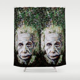 Albert Einstein - brainstorm Shower Curtain