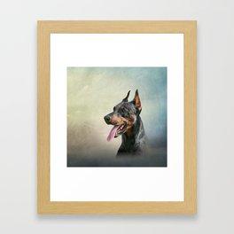 Drawing Doberman dog 2 Framed Art Print
