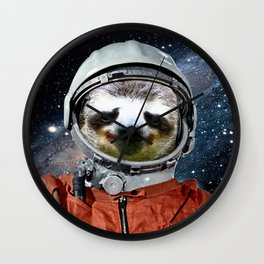 Astronaut Sloth Wall Clock