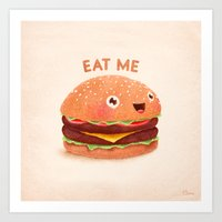burger Art Prints featuring Burger by Lime