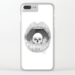 skull in lips Clear iPhone Case