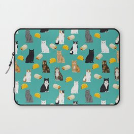 Cat breed tacos and burritos cute kitty lover pet gifts must have mexican food night Laptop Sleeve