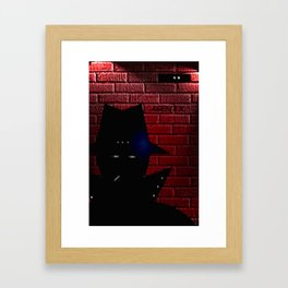 AGENT X. Framed Art Print