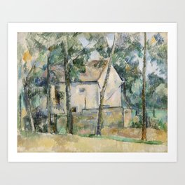 House and Trees Art Print