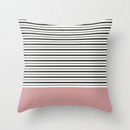 SAILOR STRIPES WITH PINK Throw Pillow
