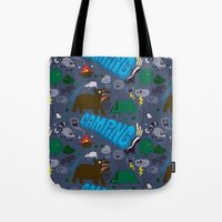 camping Tote Bags featuring Camping by Chris Piascik