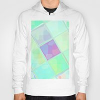 lv Hoodies featuring Re-Created Mirrored SQ LV by Robert S. Lee by Robert S. Lee Art
