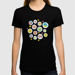 Blue circles sweet love  T-shirt